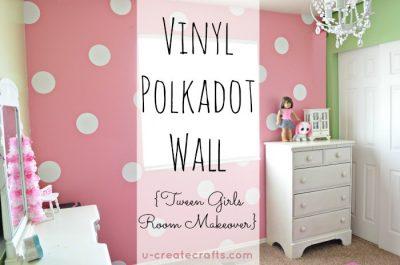 DIY Vinyl Polka Dot Wall