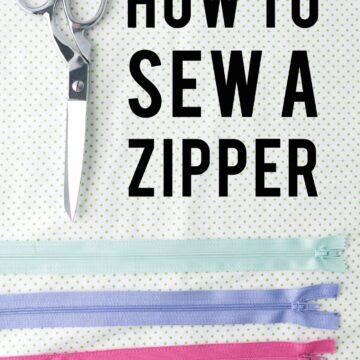 sew a zipper title image