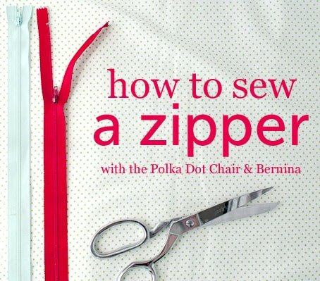 How to sew a zipper with the Polka Dot Chair
