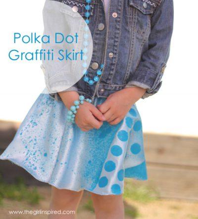 Polka Dot Grafitti Skirt