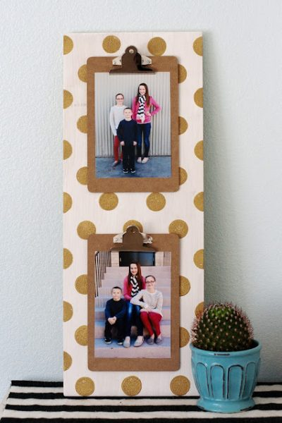Polka Dot Photo Clipboard