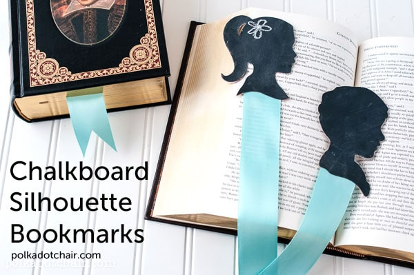 Chalkboard Silhouette Bookmarks on polkadotchair.com