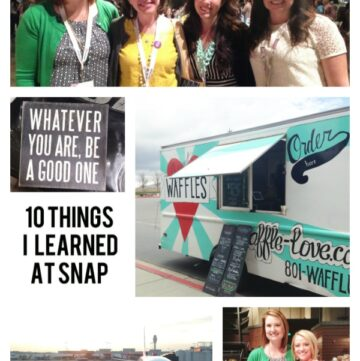 10 blogging tips learned at SNAP
