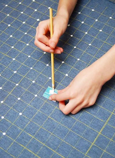How to make your own polka dot fabric