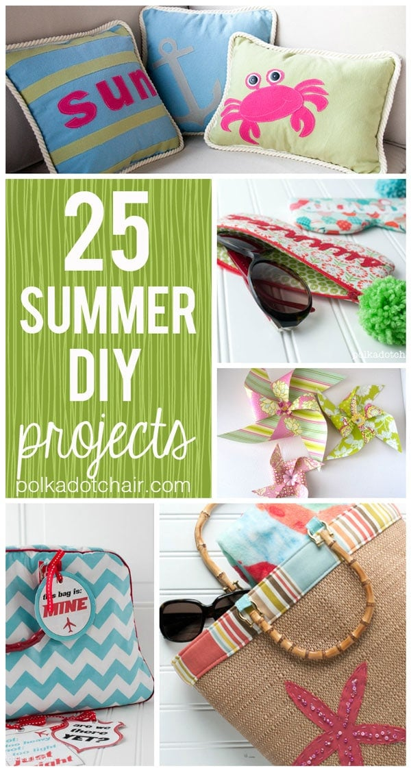 25 summer diy projects the polka dot chair blog. Black Bedroom Furniture Sets. Home Design Ideas