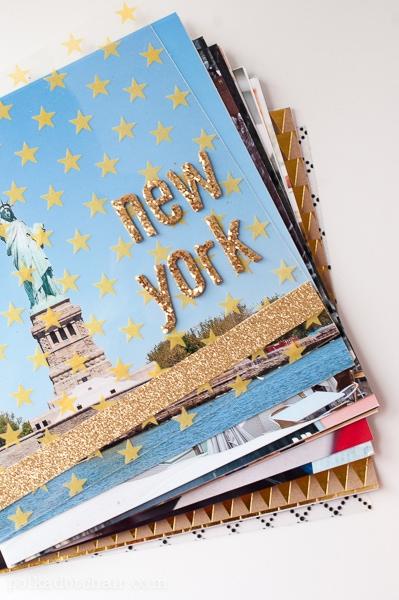 diy photo album  a tutorial for an easy travel scrapbook