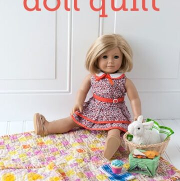 Easy Fat Quarter Doll Quilt