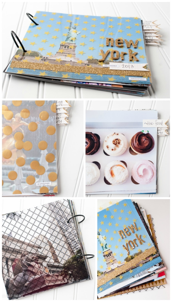 DIY Photo Album, A tutorial for an easy travel scrapbook