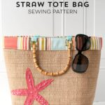 Crochet Straw Beach Bag Tutorial And Pattern : tote bag Archives - The Polka Dot Chair