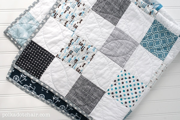 Color Blocked Baby Quilt Patterns Free Pattern Polka