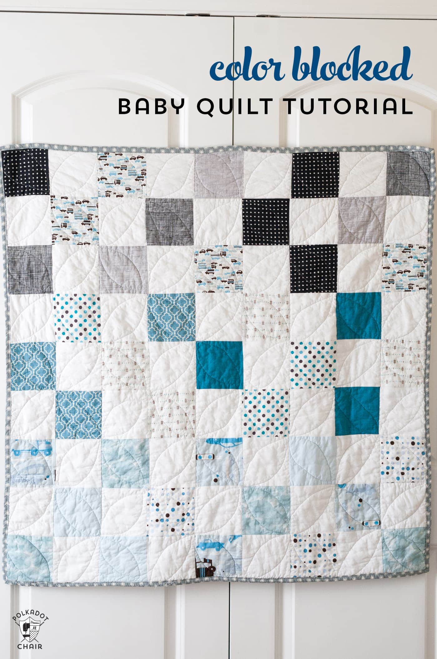 Baby Quilt Patterns.Color Blocked Patchwork Baby Quilt Tutorial A Free Quilt Pattern