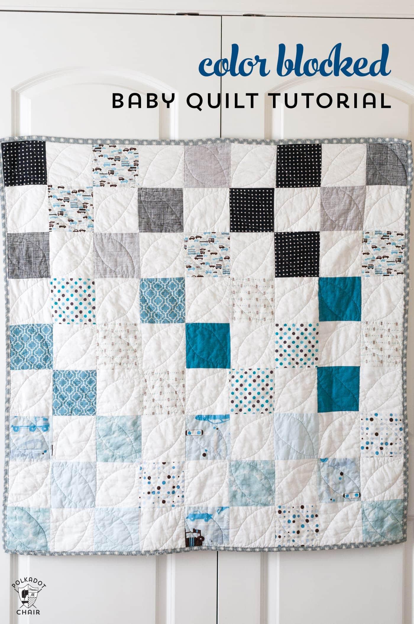 Color Blocked Patchwork Baby Quilt Tutorial; a Free Quilt Pattern : baby boy quilt patterns for beginners - Adamdwight.com