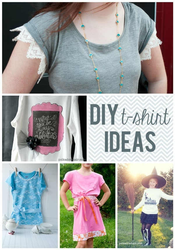 diy t shirt ideas on the polka dot chair blog