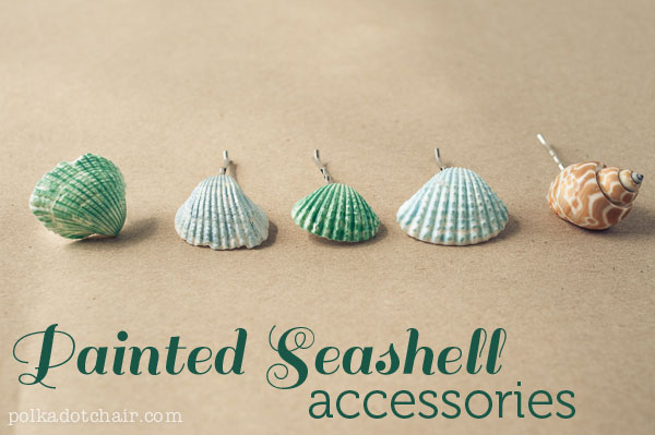 DIY Painted Seashell Accessories