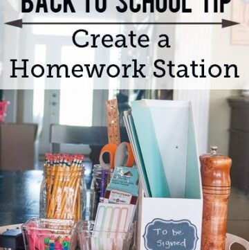 Back to School Tips: How to Create a Homework Station