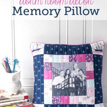 Dorm Room Decor: Memory Pillow Tutorial