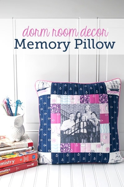 dorm room decorating ideas memory pillow sewing pattern. Black Bedroom Furniture Sets. Home Design Ideas
