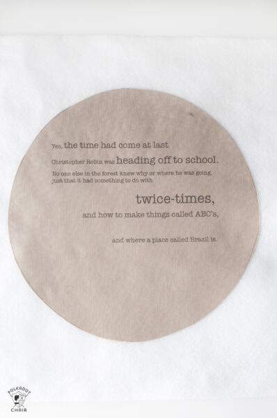 quote in embroidery hoop