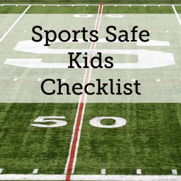 Sports Safe Kids Checklist