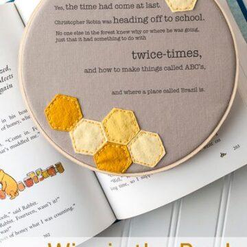 Winnie the Pooh Embroidery Hoop Art