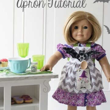 Halloween Doll Apron Tutorial