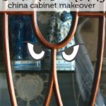 Spooky China Cabinet Makeover