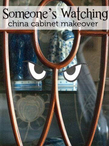 Halloween China Cabinet Idea