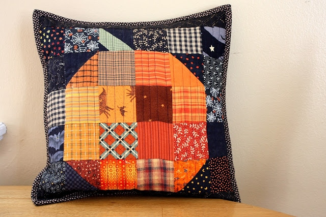 Halloween Pumpkin Patch Pillow Pattern