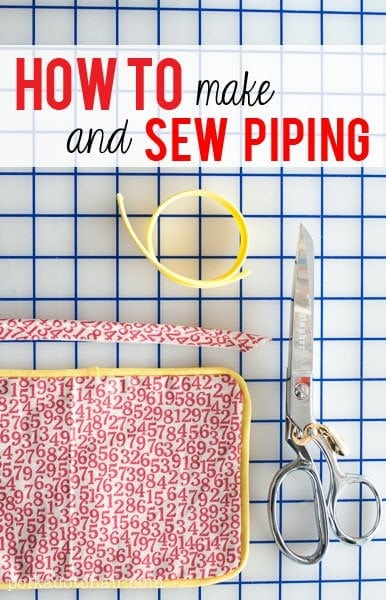 How to make and sew piping