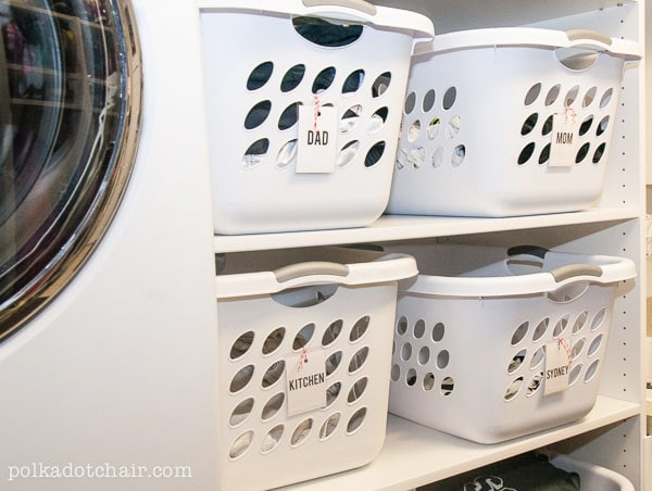 Laundry Room Shelving Idea- GENIUS!