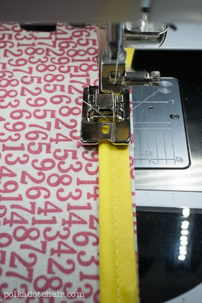 How to Make & Sew Piping, a sewing lesson on polkadotchair.com