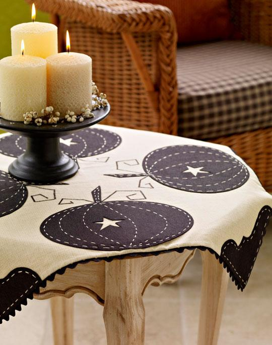 Black and White Halloween Tablecloth Sewing Pattern