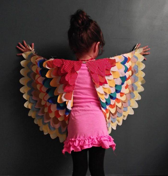Как сделать крылья птицы для костюма