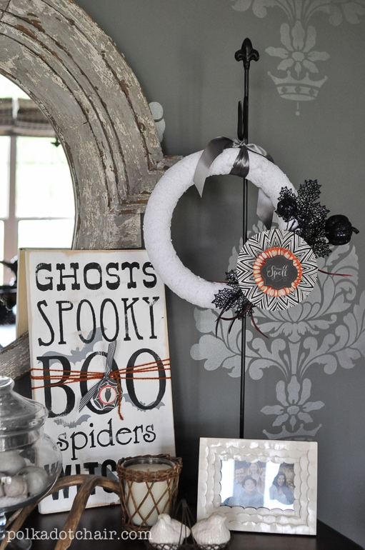 black and white halloween decorations  The Polka Dot Chair - Black Halloween Decorations