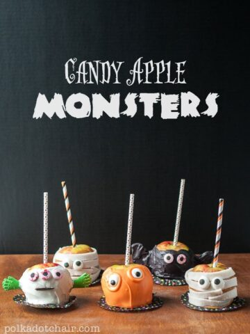 How to Make Candy Apple Monsters