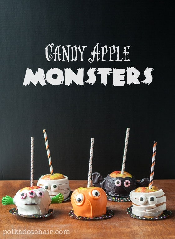 recipe for caramel apples decorated like monsters so cute great idea halloween food to - Caramel Apple Ideas Halloween