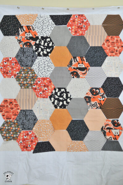 layout for half hexagons on white design wall