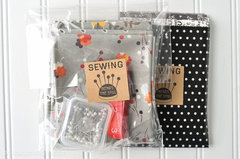 ... some fabric as a gift? Just add the label to a bag for a simple gift