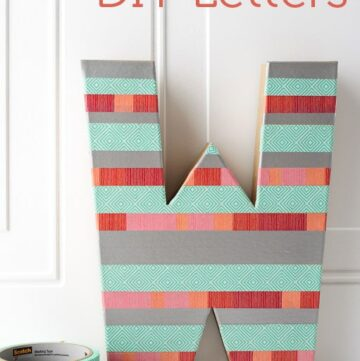 DIY Washi Tape Letters for Sewing Room Decor