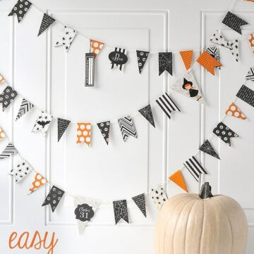 Easy DIY Pennant Banner for Halloween