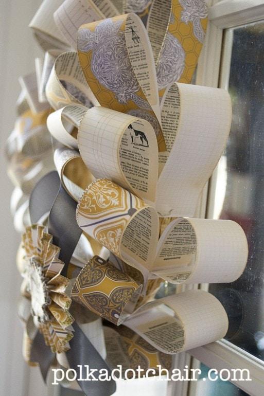Grateful Wreath - A DIY Paper Wreath Tutorial