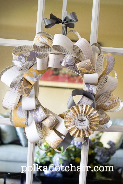 Grateful Wreath - A DIY Paper Wreath Tutorial