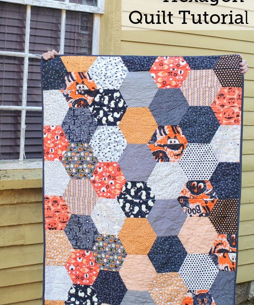 Large Hexagon Quilt Tutorial The Polka Dot Chair Blog