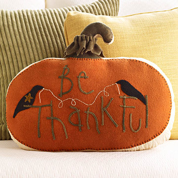 DIY Be Thankful Pillow