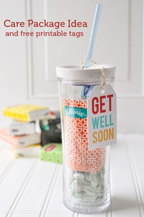Get Well Soon Free Printables and Care Package Idea - CUTE!