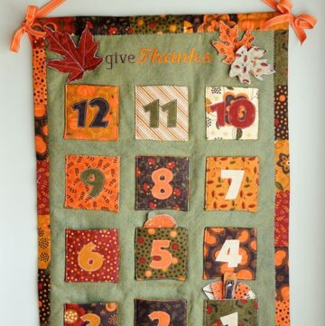 Thanksgiving Advent Calendar Tutorial