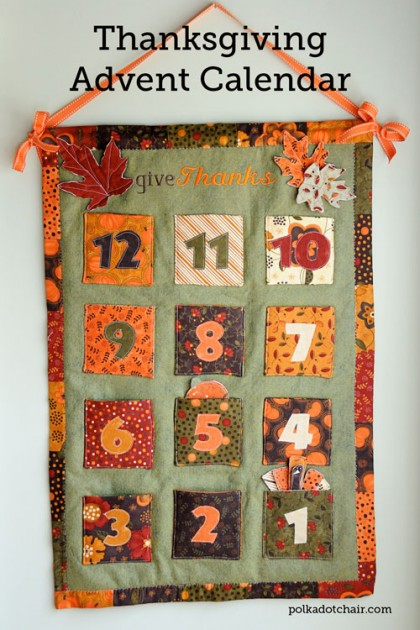 Diy Sewing Advent Calendar : Thanksgiving advent calendar tutorial the polka dot chair
