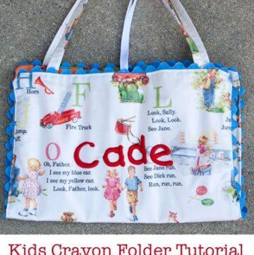 Kids Crayon Folder Tutorial
