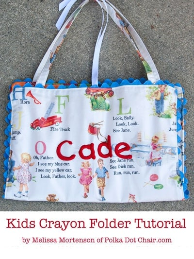 Kids Crayon Folder Tutorial