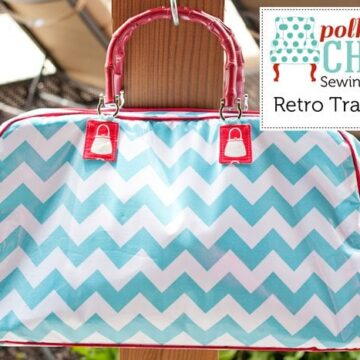 Retro Travel Bag Sewing Pattern